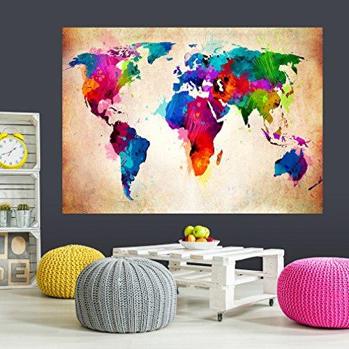 decomonkey | Optische Täuschung | Weitblick 3D ca 140x100 cm Wandbild Fototapete Tapete Poster XXL 3D Vlies Leinwand Panorama Bilder Dekoration Karte WeltkarteTOB0002aM