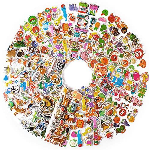 1000+ Gommettes Autocollants Enfant 2 Ans Animaux Fruits Légumes 3D Stickers Cadeaux Idéaux 60 Feuilles