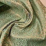 Textile Station Indischer Brokat-Stoff, florales Muster,