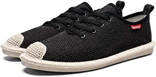 AUCDK Shoes Mens Canvas Shoes Lightweight Plate Shoes Breathable Sneakers Casual Summer Trainer