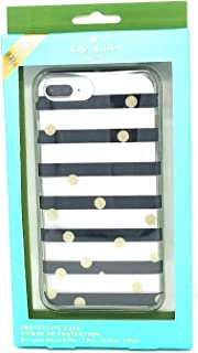 Kate Spade Clear Black/White,Gold Glitter Dot Protective Case for iPhone 8 Plus,7 Plus,6s Plus, 6 Plus