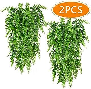 PUBAMALL Plantas Artificiales Boston Ferns Colgantes de