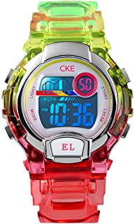 Kids Watch, Digital Waterproof Sports Watches for Boys Girls with 3 Color EL Light Stopwatch Alarm