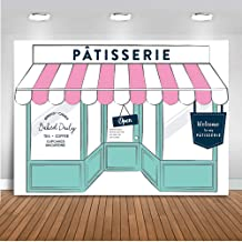 Mehofoto Patisserie Buffet Backdrop Bake Shop Birthday Photography Background 7x5ft Vinyl French Cafe Patisserie Party Banner Backdrops