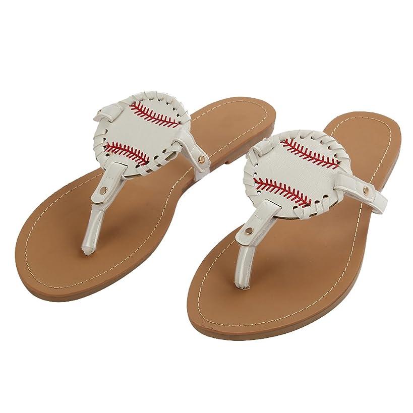 Softball Flip Flops for Women Ladies Sandals Slipper Leather Baseball Sport