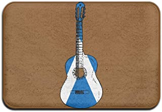 Youbah-01 Indoor/Outdoor Door Mats With Scotland Flag Guitar Art Printed For Pet Cat Dog Feeding Mat