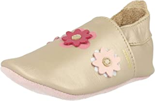 Bobux Soft Sole Bee Rose Leather Baby Soft Soles Shoes