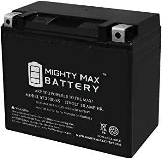 Mighty Max Battery YTX20L-BS Battery Replacement for EverStart ES20LBS Powersport Brand Product
