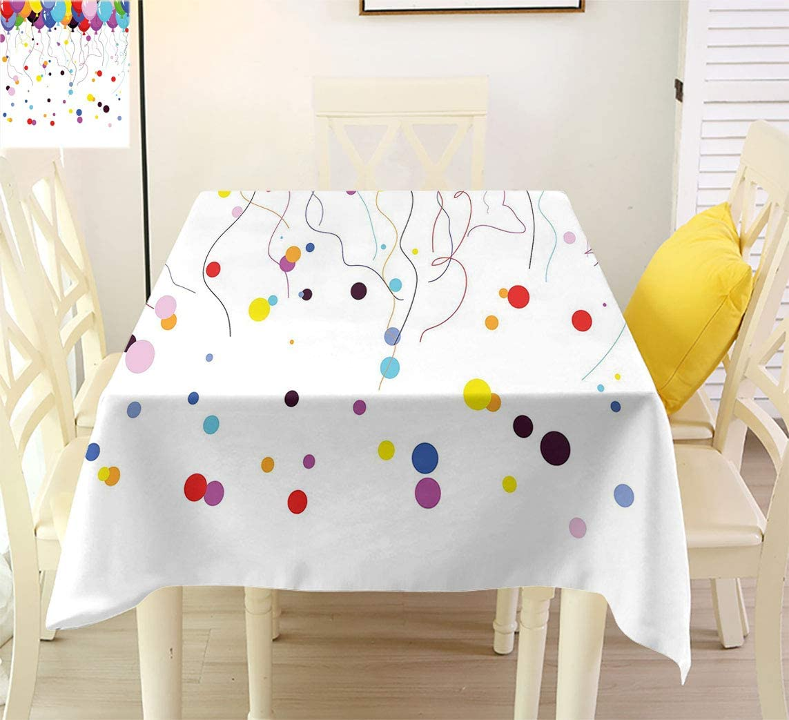 Abstract Theme ! Super beauty product restock quality top! Tablecloth Bunch of Balloon Colored Flyin Various Max 51% OFF