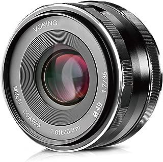 Voking VK-35mm F/1.7 Manual Focus Prime Lens for Micro 4/3 MFT M4/3 Panasonic and Olympus Digital Mirrorless Cameras