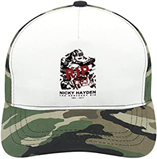 WYL S Nicky Hayden Suitable for Men and Women, Army Green Baseball Cap, Adjustable Cap Circumference.
