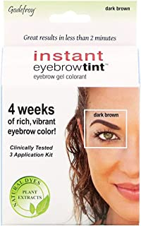 Godefroy Instant Eyebrow Tint Botanicals 3 Applications Included, Dark Brown