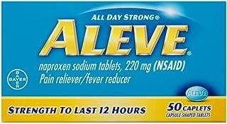 Aleve Pain Reliever/Fever Reducer Caplets, 50 ea