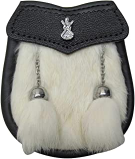 AAR Brand New St Andrew Badge Boy Sporran Fur Welsh Dragon with 2 Tassels