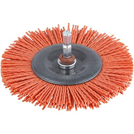 Brosse conique nylon rouge SCID Diamètre 75 mm