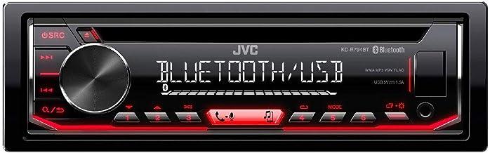 JVC Kd-R794Bt 200W Bluetooth - Radio para Coche (Negro, 1 DIN, 200 W, 50 W, CD, CD-R,CD-RW, Mosfet)