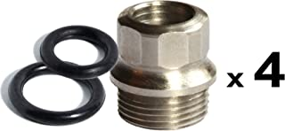 4 ea STAINLESS 1911 FULL SIZE GRIP BUSHINGS / 8 ea O rings | US made for Colt and clones | Patented design prevents loose grip screws | Hex drive makes these VERY EASY to install and remove
