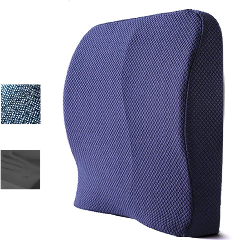 Mémoire Coton Coussin Bureau Taille Tapis Taille Oreiller De Voiture Siège Lombaire Dossier Chaise Dossier Pad Taille Pad (Couleur   A)