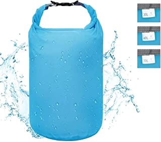 ioutdoor Waterproof Dry Bag Dry Sack 5L/ 10L/ 20L/ 40L/70L,Roll Top Lightweight Heavy Duty Dry Storage Bag for Travelling Hiking Camping Gym Yoga Kayaking Fishing Snowboarding