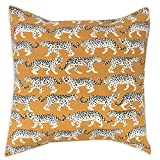 Pillow Covers Pillow Shams Throw Pillows Decorative Pillows Animal Print 18 Inch Gold Tiger Print on Brownish Yellow Background