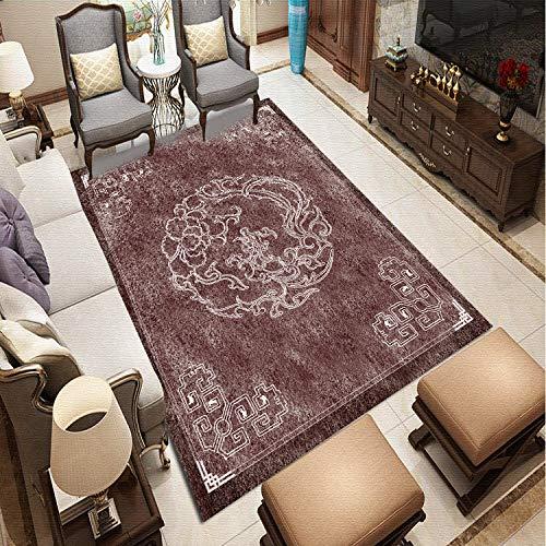 MLKUP Living Oriental Style Carpet Living Room Bedroom Cotton Mat Modern Living Room Carpet 160x230cm
