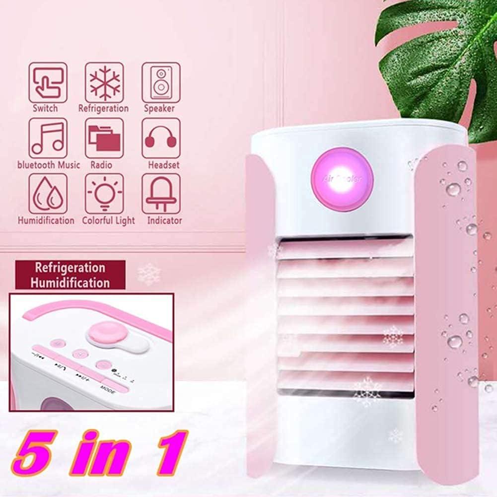aire acondicionado apartamento, Aire acondicionado móvil, enfriador de aire 2020, 3 en 1, refrigerador de aire pequeño y humidificador, limpiador y difusor de aroma, 3 velocidades de ventilador, venti