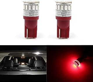 158 161 168 192 193 Car License Plate Lights, Side Door Courtesy Lights, Interior Map Lights, Dome Lights, Super Bright 500 Lumens LED Red Bulbs
