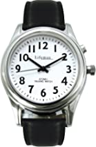 NRS Healthcare Ladies Radio Controlled Talking Watch with Leather Strap