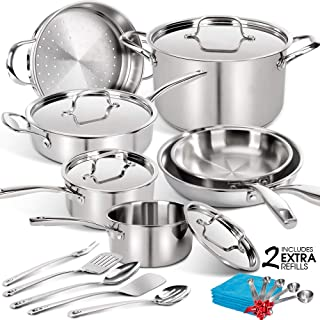 Best multiclad pro tri ply stainless steel Reviews