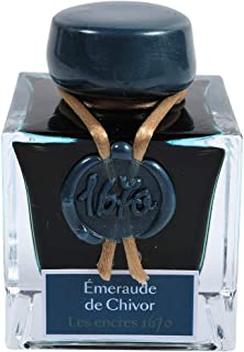 Jacques Herbin Collection 1670 15035JT Ink Bottle 50 ml Emerald by Givors