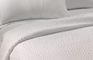 Courtyard by Marriott Textured Coverlet - Lightweight Coverlet with Wash-Activated Ripple Texture Exclusively for Courtyard - White - King