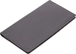 Royce Leather RFID Blocking Checkbook Holder Secretary Wallet in Leather, Black
