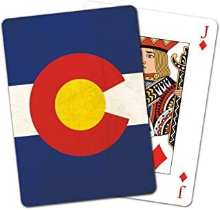 Tree-Free Greetings Deck of Playing Cards, 2.5 x 0.8 x 3.5 Inches, Colorado Flag (CD15938)