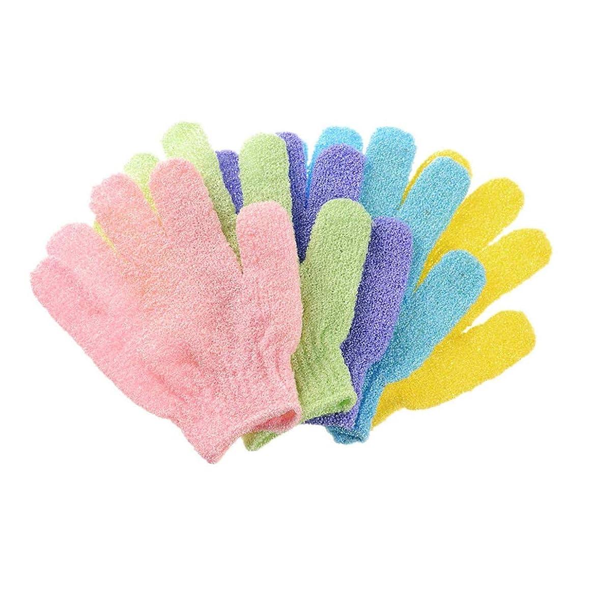 決定する光沢のある以上10枚セット角質取り 泡立ち 垢すり グローブ ボディウォッシュ手袋 お風呂手袋 角質除去 浴用手袋