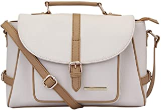 Lapis O Lupo Women's Canvas Blanche Handbag (Off WhiteLLHB0030OW) Multi-functional pocket design