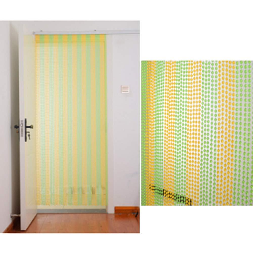 GDMING-Cortinas De Hilos Para Puertas Cortina De Cuentas Tabique Casa Decoración Cadena De Cuentas Panel por Sala Cocina Paso, 10 Colores, 6 Tamaños (Color : B, Size : 60 Strands 90x180cm): Amazon.es: Hogar