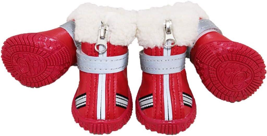 CUXIN 4PCS//Set Waterproof Cat Thick Shoes Non-Slip Dog Snow Boots Boots Dog Supplies Dog Shoes S,Orange