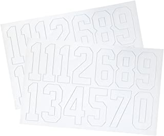 A&R Sports Number Decals, 2-Inch