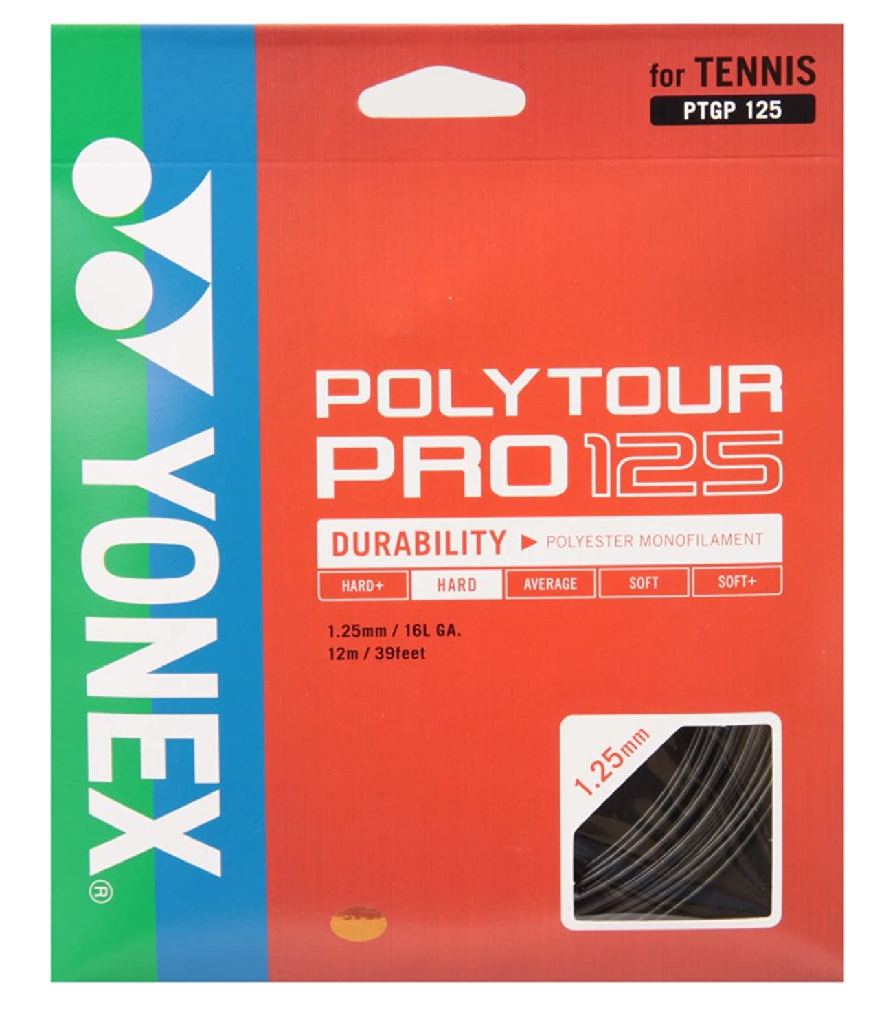 数学的な自分のオデュッセウスヨネックス(YONEX) テニス ストリング ポリツアープロ POLYTOUR PRO
