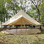 4 Season Bell Tent Outdoor Family Camping Waterproof Bell Tent with Zipped for Family Camping Outdoor Hunting 12