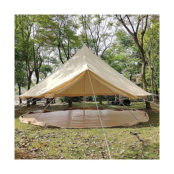 4 Season Bell Tent Outdoor Family Camping Waterproof Bell Tent with Zipped for Family Camping Outdoor Hunting 5