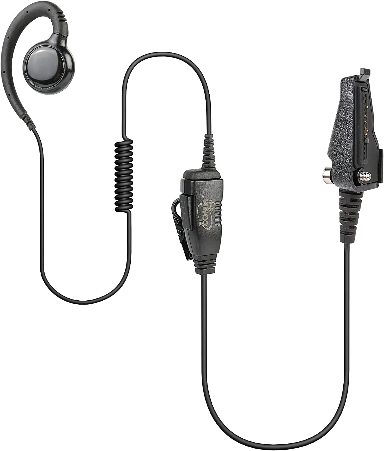 The Phoenix Mall Comm Purchase Guys 1-Wire Swivel Loop and Earpiece Mic Compa Headset