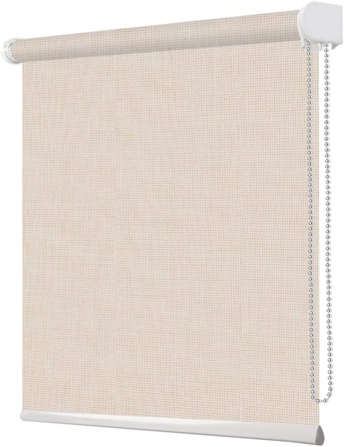 Grneric Solar Window Shades Blinds Max 84% OFF Faux Linen Filte Beige Light Time sale
