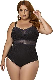 Body Feminino Plus Size Com Bojo Linha Única Nayane Rodrigues Ref. BP4151