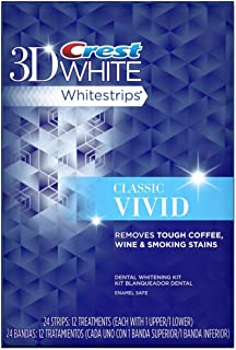 Crest 3D White Whitestrips Classic Vivid - Teeth Whitening Kit 12 Treatments