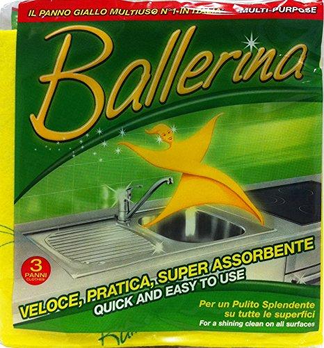 Vim - Ballerina Bayeta amarilla, 15 paquetes de 3unidades
