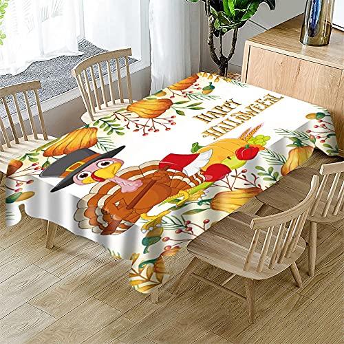 Mantel navideño,Mantel Rectangular Impermeable poliéster para Festivas navideñas para la mayoría de Las mesas de tu hogar 140 x 240cm