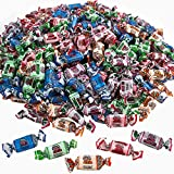 Kicko Fruit Chews - 1 Bag of 240 Pieces Assorted Fruit-Flavored Candy Suckers for Party Favors, Novelty Supplies or Treats for Halloween, Christmas, Baby Showers, Birthdays