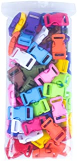 Craft County 60 Pack - 12 Colors - 5/8-Inch Quick Side Release Plastic Buckles