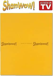 The Original Shamwow - Super Absorbent Multi-Purpose Cleaning Shammy (Chamois) Towel Cloth, Machine Washable, Will Not Scratch, Orange